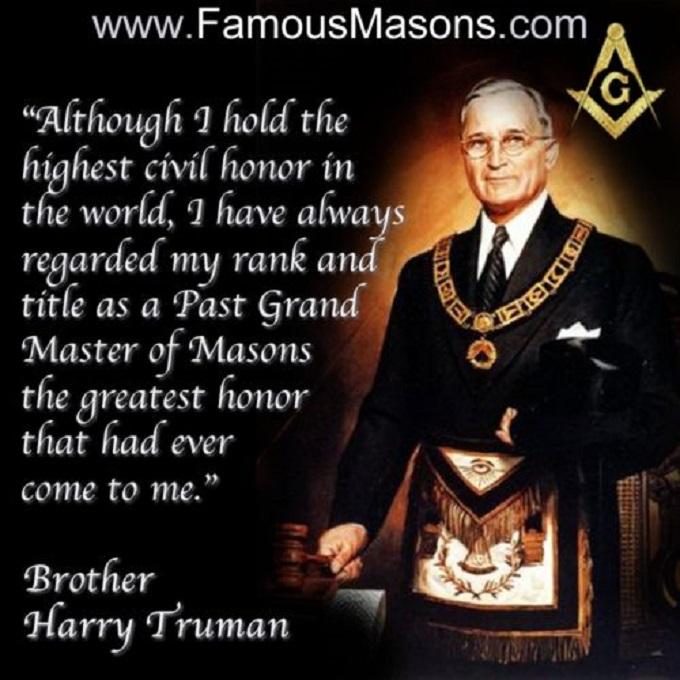 Harry Truman head Mason