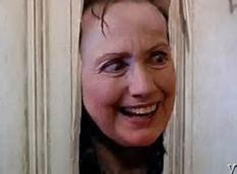 Hillary 'Here's Johnny'