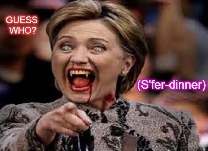 Hillary VAMPIRE FOR DINNER
