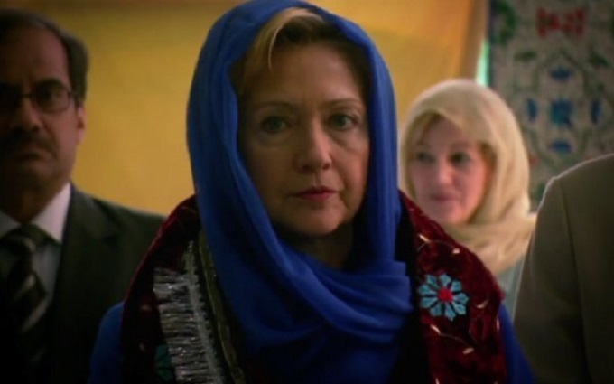 Hillary with shawl