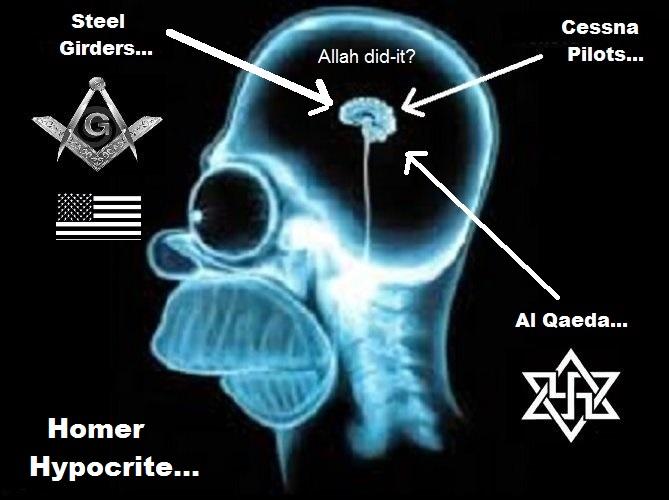 Homer HYPOCRITE American Mason fascist Allah did it Cessna