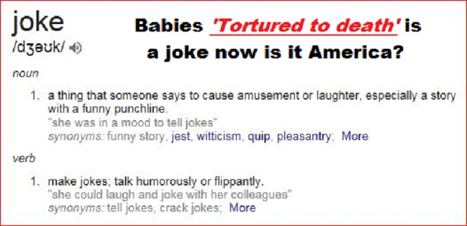 Joke screenshot Babies Tortured