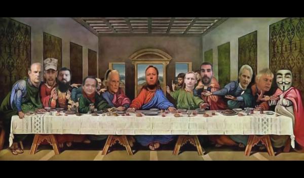 Last Supper Alex Jones
