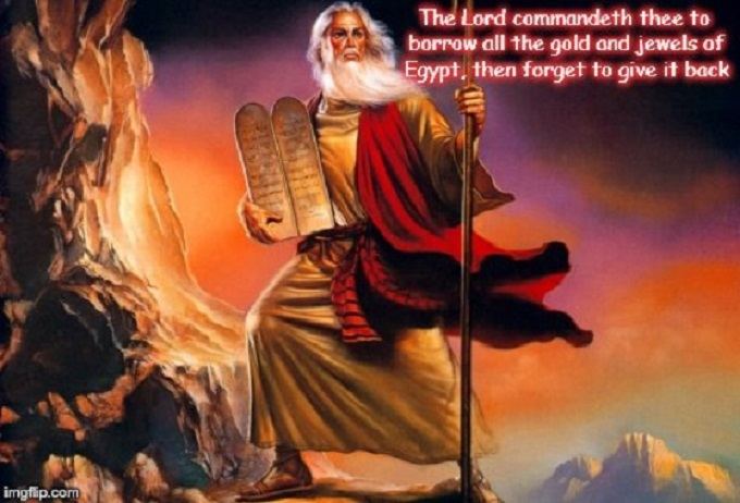 Moses ~ The gold and jewels ~ 560 ~