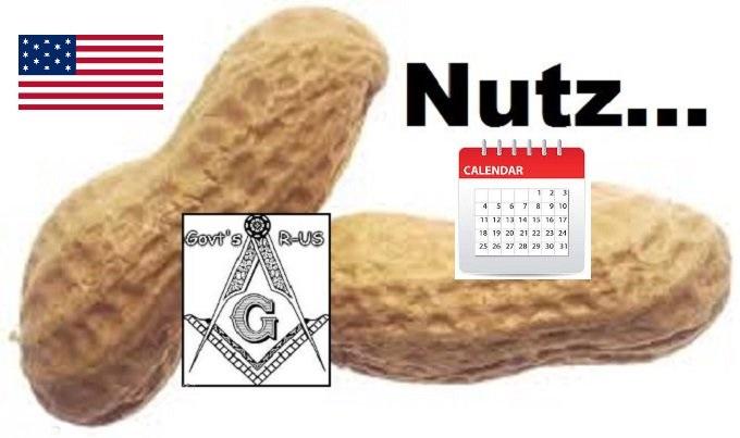 Nuts Nutz American Flag Calendar NO IMGFLIP