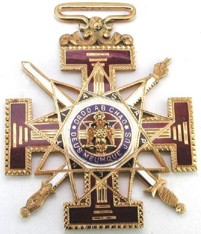 Order out of Chaos Masonic badge