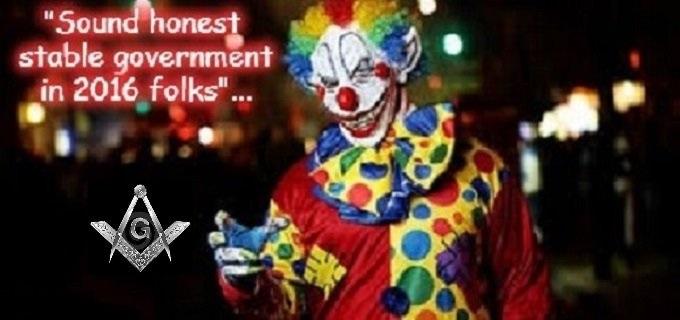 Razzle Masonic clown stable govt 2016