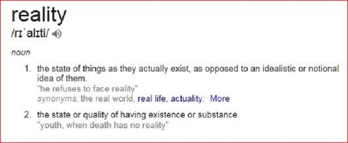 Reality Meaning screenshot