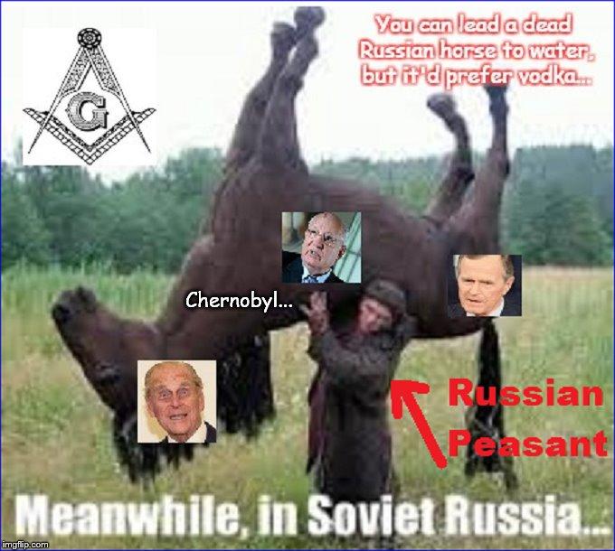 Russian peasant Chernobyl Horse