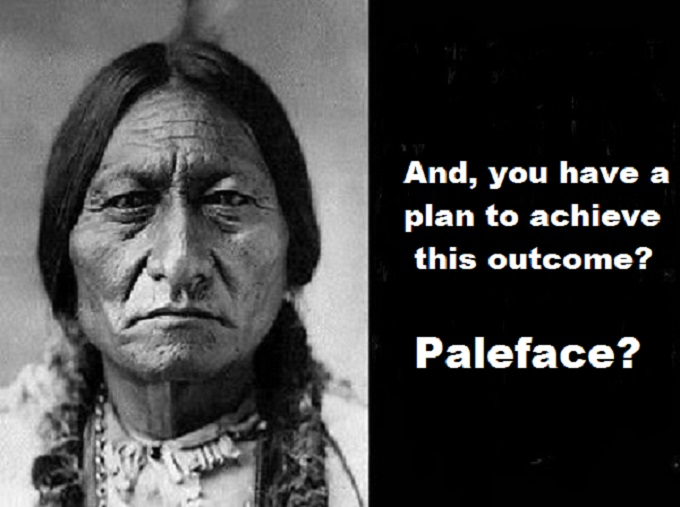 Sitting Bull American Indian Plan Paleface