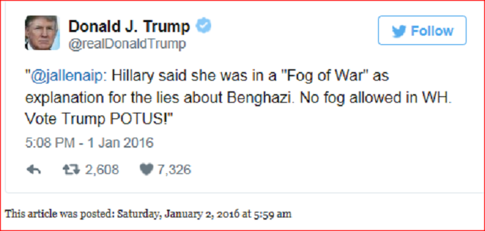 Trump Hillary Fog of War screenshot