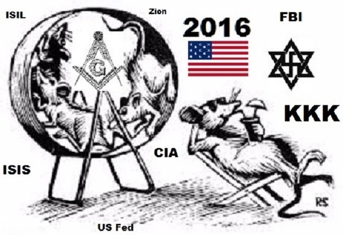 American Zionist Rat wheel KKK others NO IMGFLIP