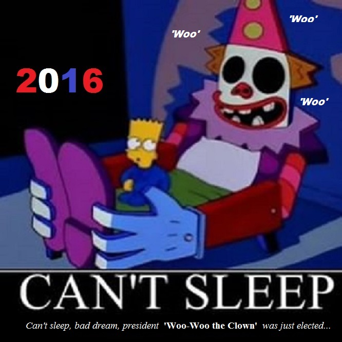 Bart and the Clown PRESIDENT WOO-WOO THE CLOWN extra woo