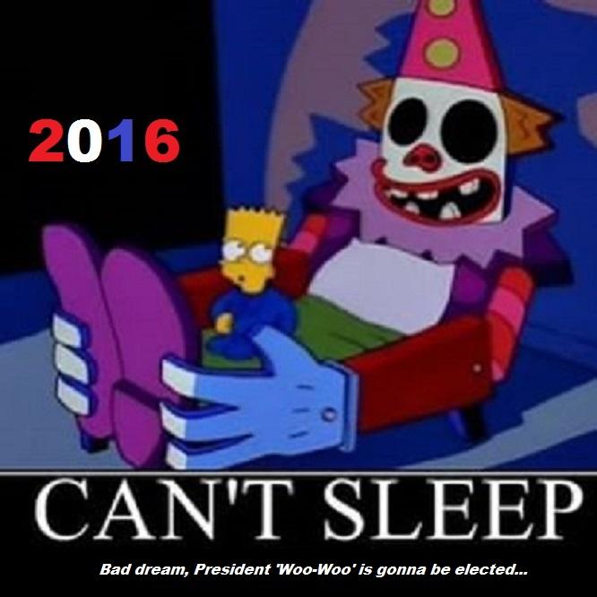 Bart and the Clown PRESIDENT WOO-WOO