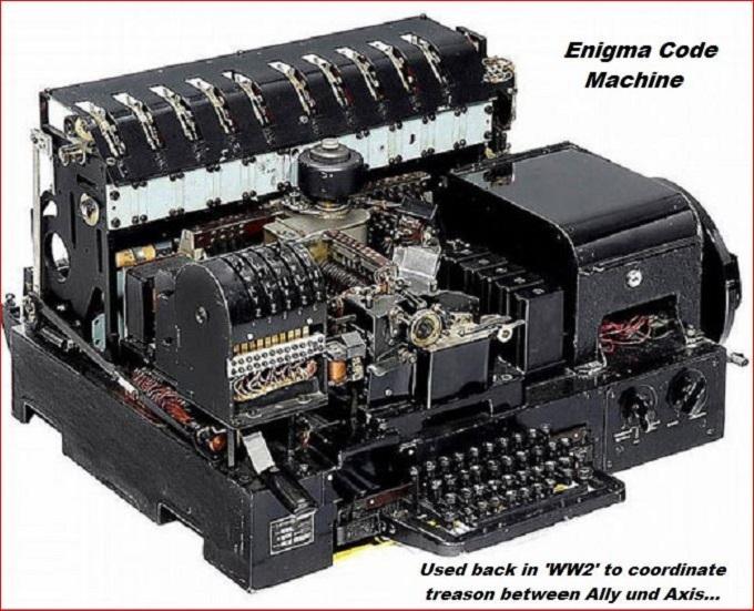 Enigma machine RED BORDER