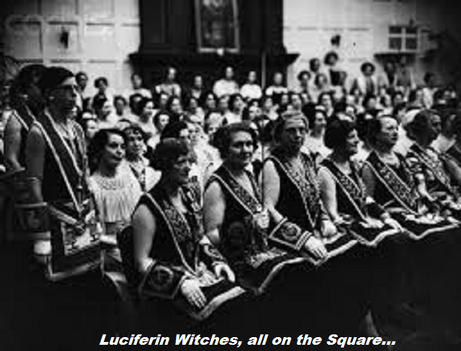 Female Mason with sword Luciferin witches
