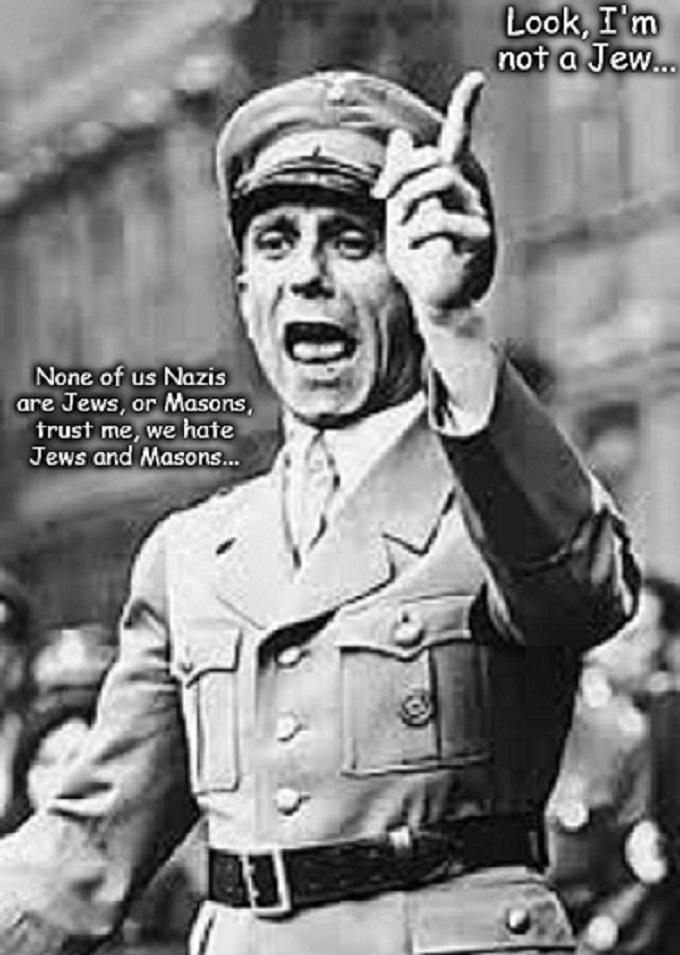 Goebbels not a Jew or Mason