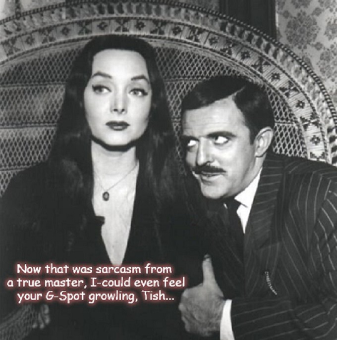 Gomez Morticia G-Spot growling