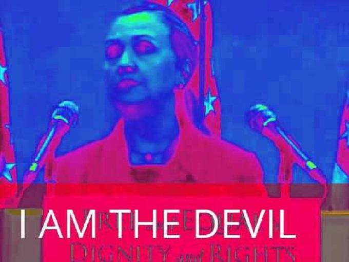 Hillary I am the devil Clinton