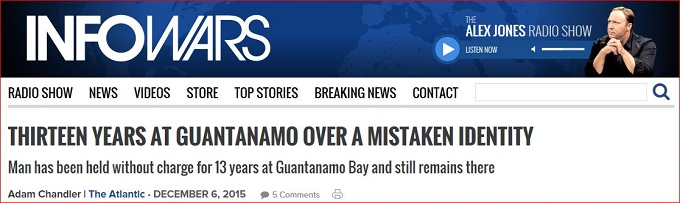 Infowars screenshot Guantanamo
