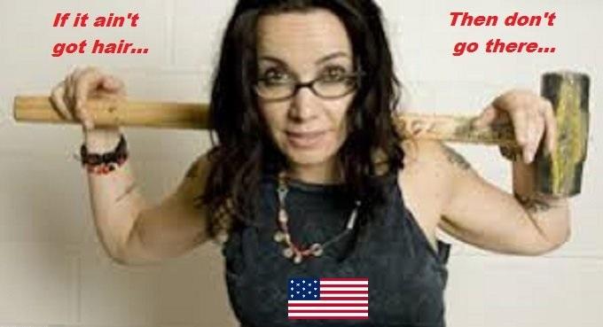 janeane garofalo American flag sledgehammer