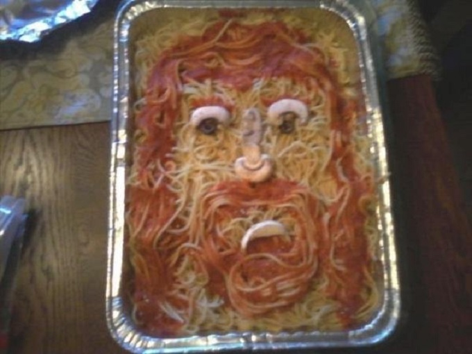 Jesus in spaghetti