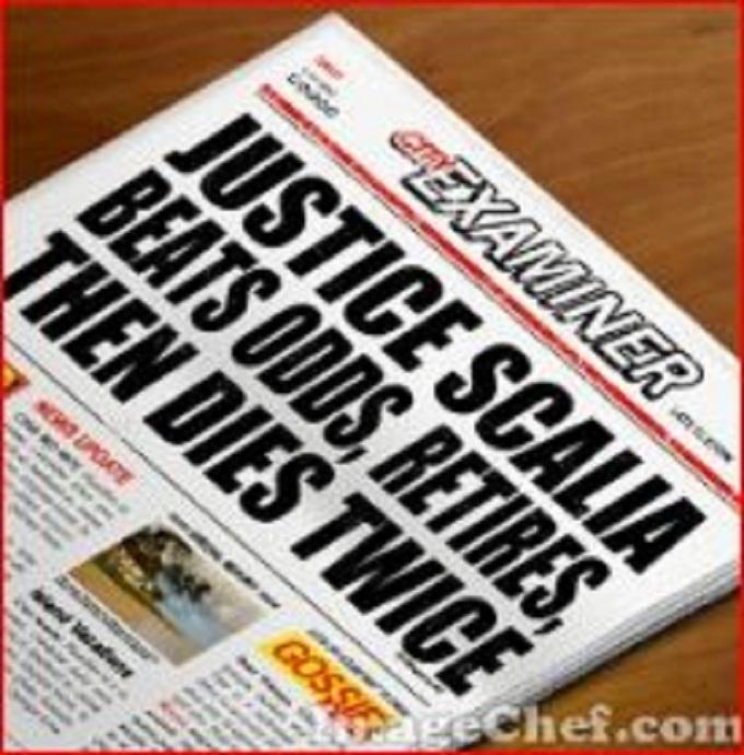 Justice Scalia headline