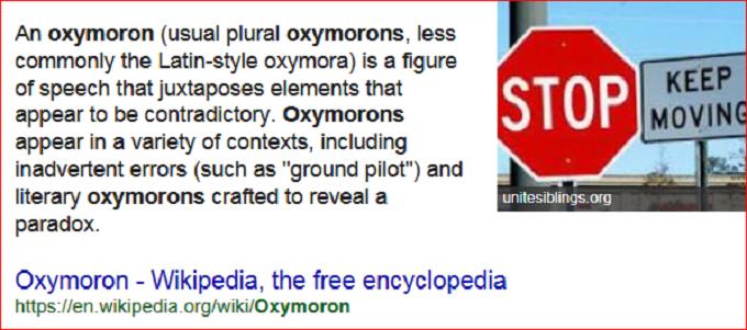Oxymoronic