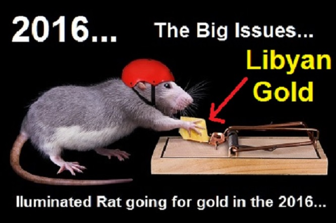 Rat Trap ~ Illuminated Rat going for Libyan Gold