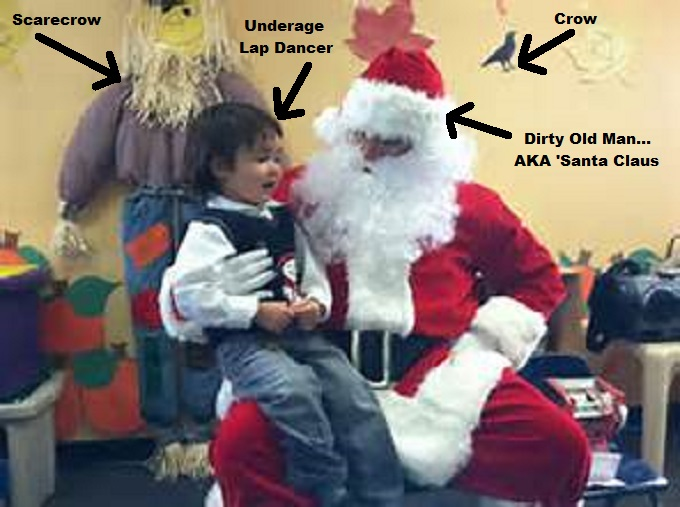 Santa lap dance