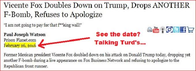 Screenshot Trump Fox talking turds