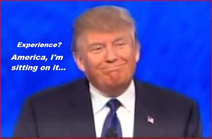 Trump smug smirk ~ America, I'm sitting on it Experience