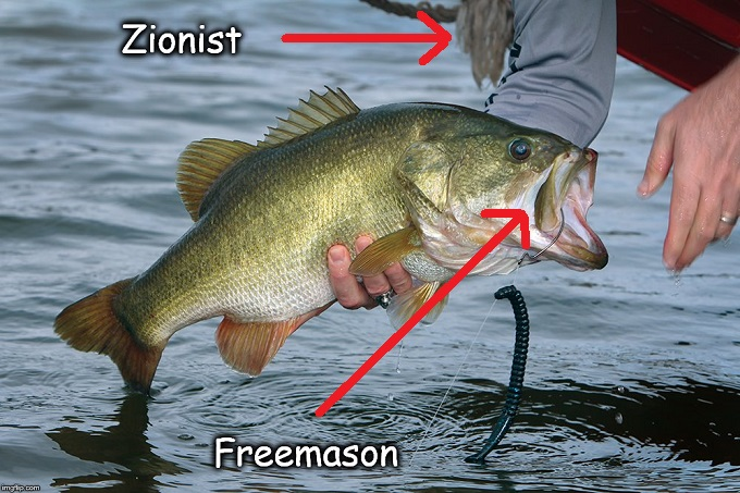 Zionist Freemason fat mouthed Bass