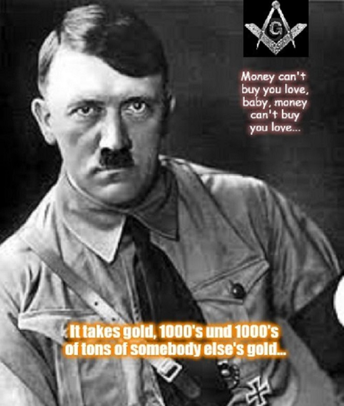 Adolf Hitler Masons Gold 666