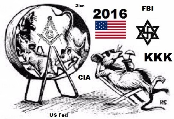 American Zionist Rat wheel KKK ~