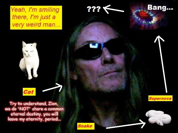 Analogy Allegory Supernova Robby Hades Snake Cat Smiling weird