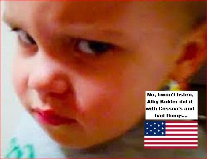 Angry boy America Cessna Alky Kidder