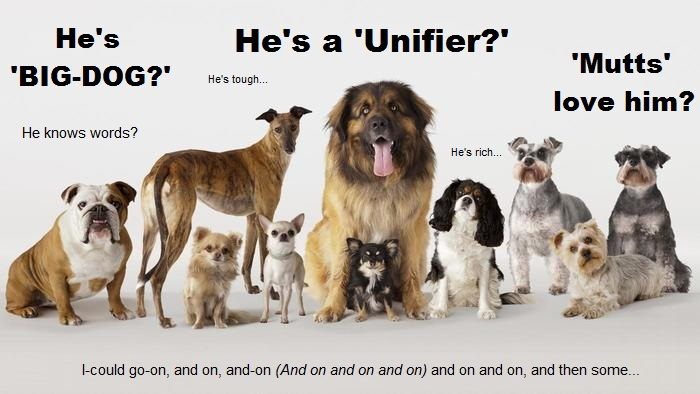 Breeds of dog Trump unifier