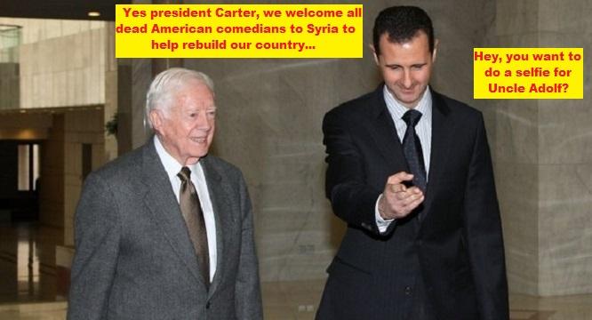 Carter and Assad dead American comedians