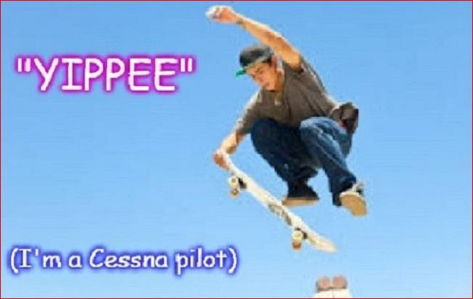 Cessna skateboard kid