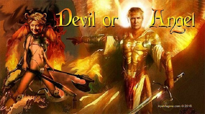 Devil or angel Hillary or Trump