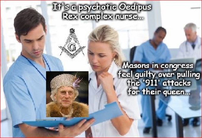 Doctor and NURSE Oedipus Rex Masons in Congress 911
