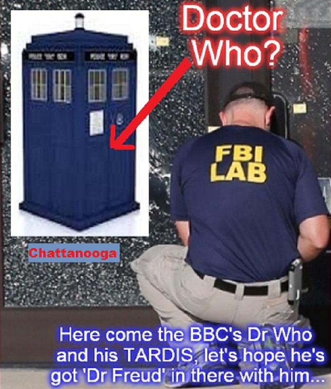 Dr Who ~ Tardis FBI Chatanooga repeat
