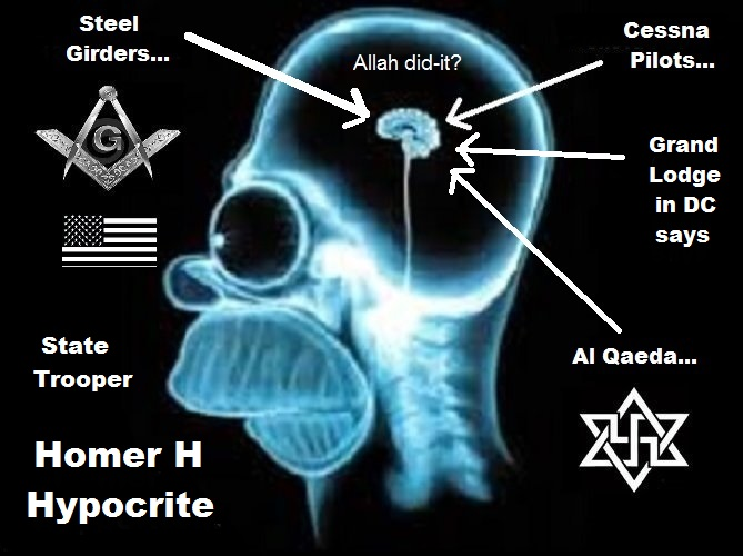 Homer HYPOCRITE Grand LODGE DC Allah did it Cessna