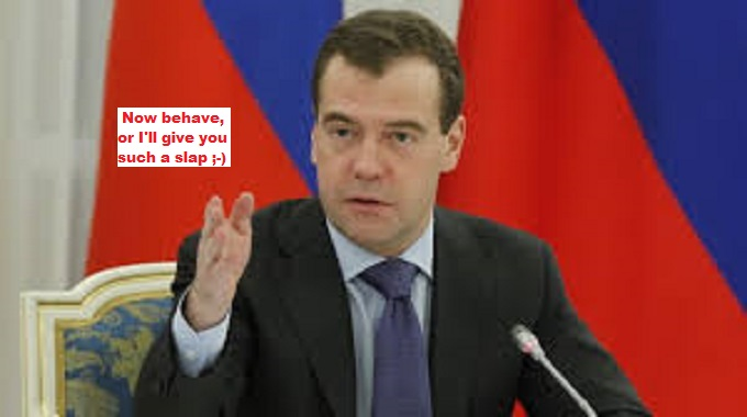 Medvedev NOW BEHAVE SLAP