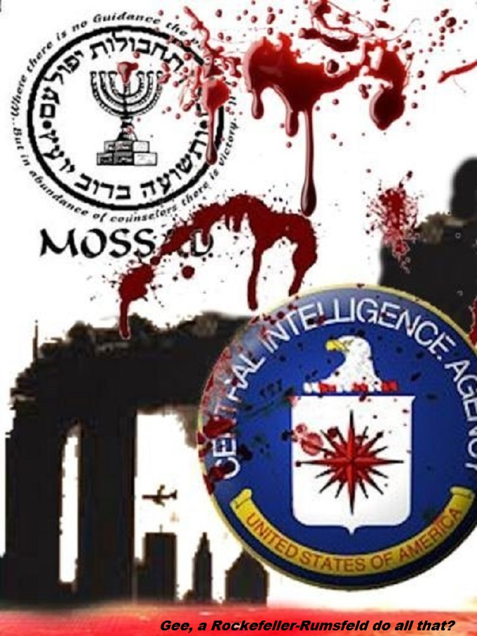 Mossad '911' Connect the 'CIA' Masonic Rockefeller Rumsfeld