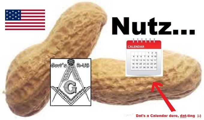 Nuts Nutz American Flag Calendar DAT TING