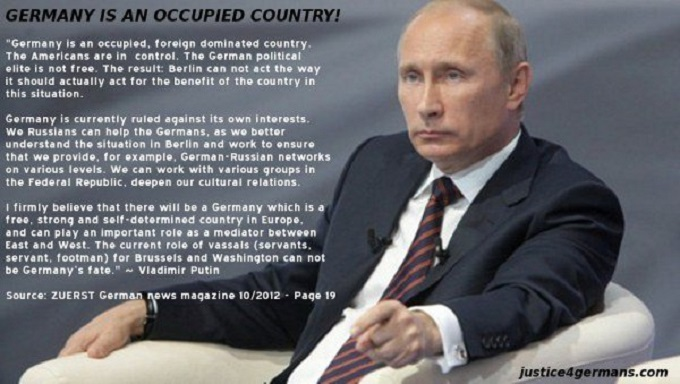 Putin Germany is an occupied country