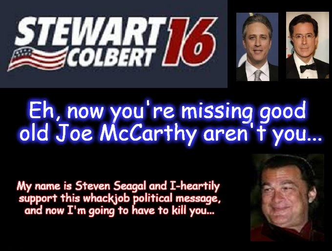 Stewart and Colbert free speech