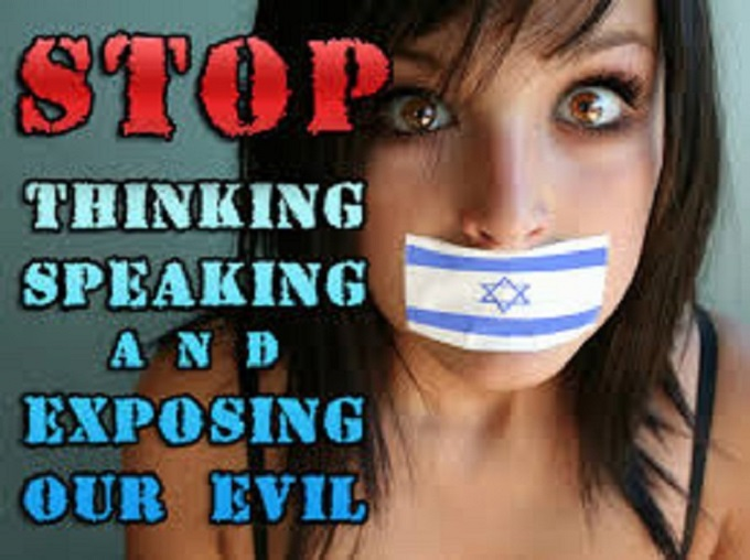 Stop thinking and exposing Zionist evil